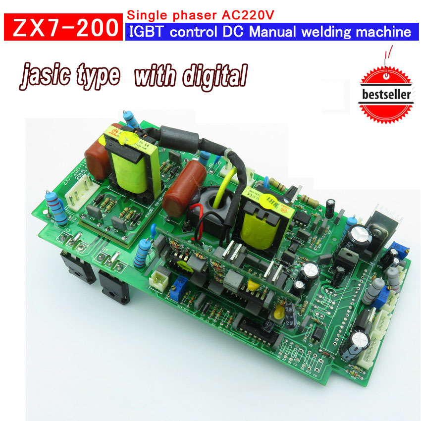 Upper main control circuit board house used ZX7-200 inverter welder ,repair parts all new ,welding equipment accessories wire universal board computer board six lines 0040400256 0040400257 used disassemble