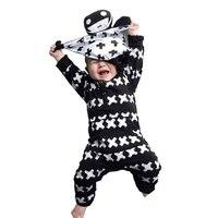 2016 NUNUNU Baby Rompers Cute Cross Pattern Boys Girl Toddler Romper Fashion Casual Long Sleeve Jumpsuit