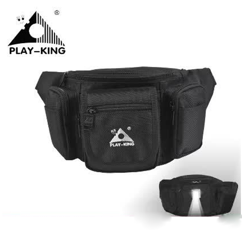 PLAYKING Unisex Chest Pockets Bales Nocturnal Lighting Leisure Sports Waist Bag Wallet Camping Hiking Inclined Back Parcel Trend