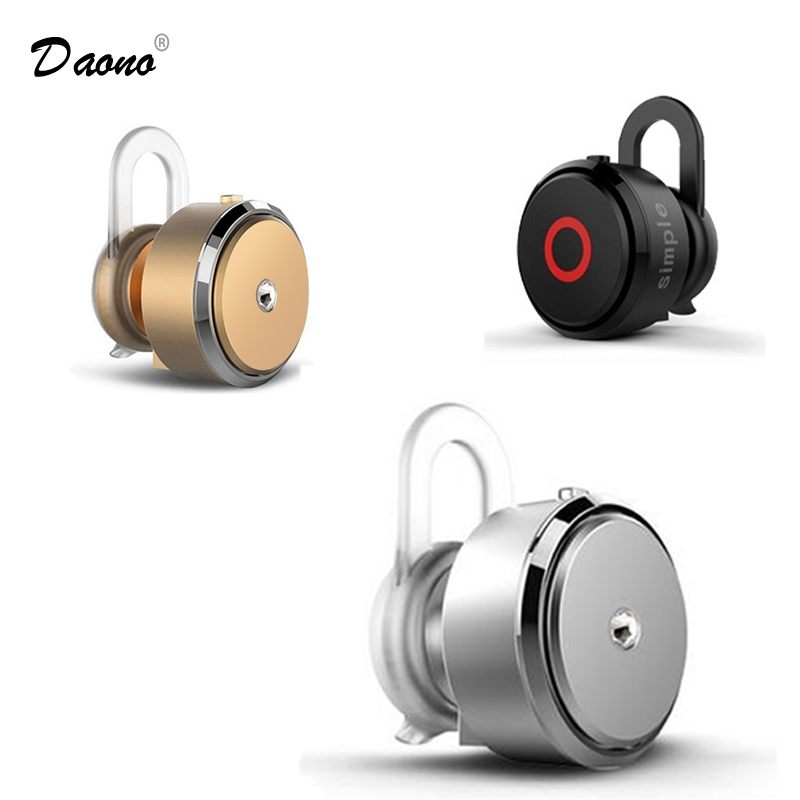 Daono  Bluetooth Earphone Mini Wireless in-ear Single Earpiece Headphone Bluetooth  Earbuds Mic Headset For Phone Tablet tebaurry mini bluetooth earphone wireless bluetooth headset invisible in ear bass earbuds with mic for iphone android phone