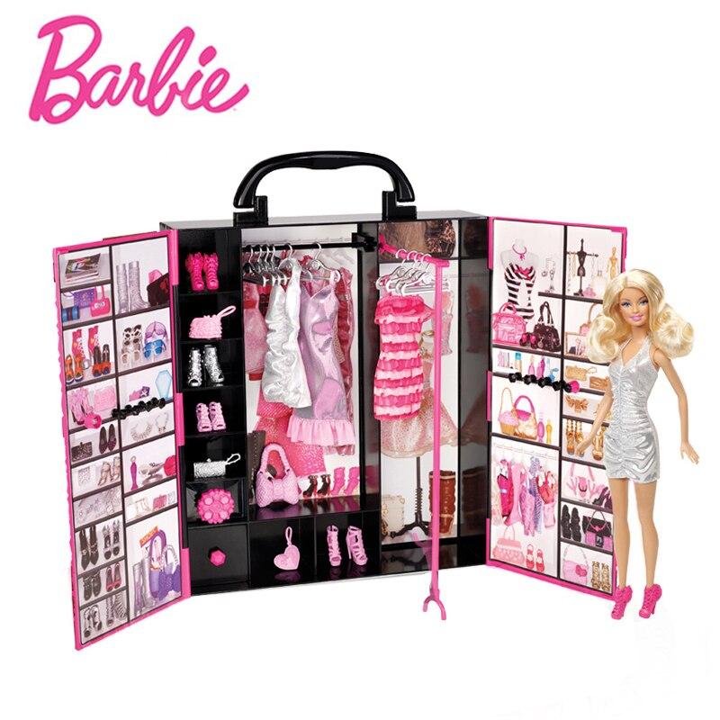Boneca Barbie originais Brinquedos Senhora Fantasia Final Closet Brinquedos Trajes de Roupas Terno Do Bebê Brinquedo Educativo Presente de Aniversário Para As Meninas