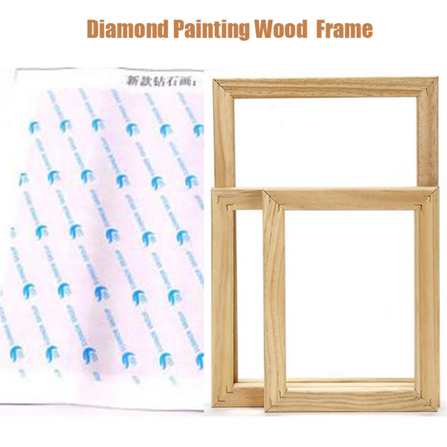 diy diamond painting tools wood frame,5d full diamond Embroidery accessory decoration for frame poster painting canvas painting