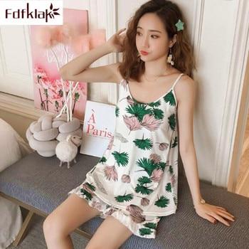 c3c14a738 Fdfklak nueva ropa de dormir de verano para mujer Pantalones cortos para  dormir pantalones de Pijama ...