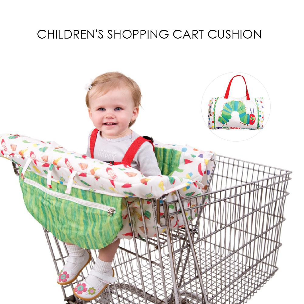 Foldable Portable Baby Printing Shopping Cart Seat Cover Cushion Pad Multifunctional Dining Chair Pad For Baby Chair Seat Mat