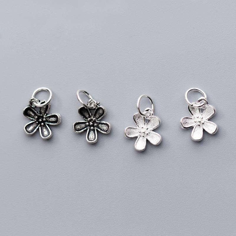 UQBing 925 пробы серебро простой кулон в виде баугинии Шарм бусины Цветок для Аксессуары для ювелирных изделий оптовая продажа