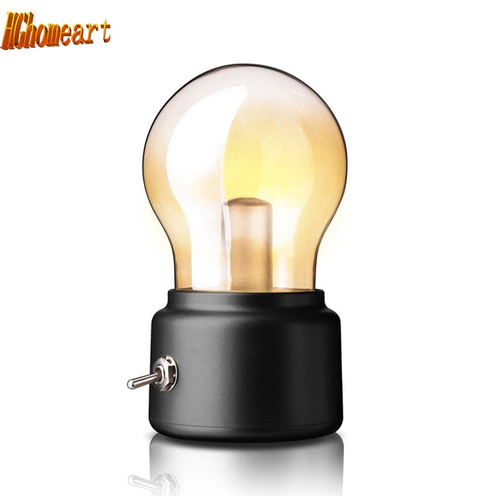 baby room Creative Retro LED Bulb Lamp Mini Led Night Light Studying Room Glass Lampshade Emergency Light home decor lights