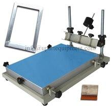 small  manual flat bed silk screen printing machine недорого