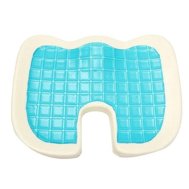 46x35x7.5cm Memory Foam Blue/White Cooling Cushion Comfort Gel Seat Chair  Pillow Beautiful