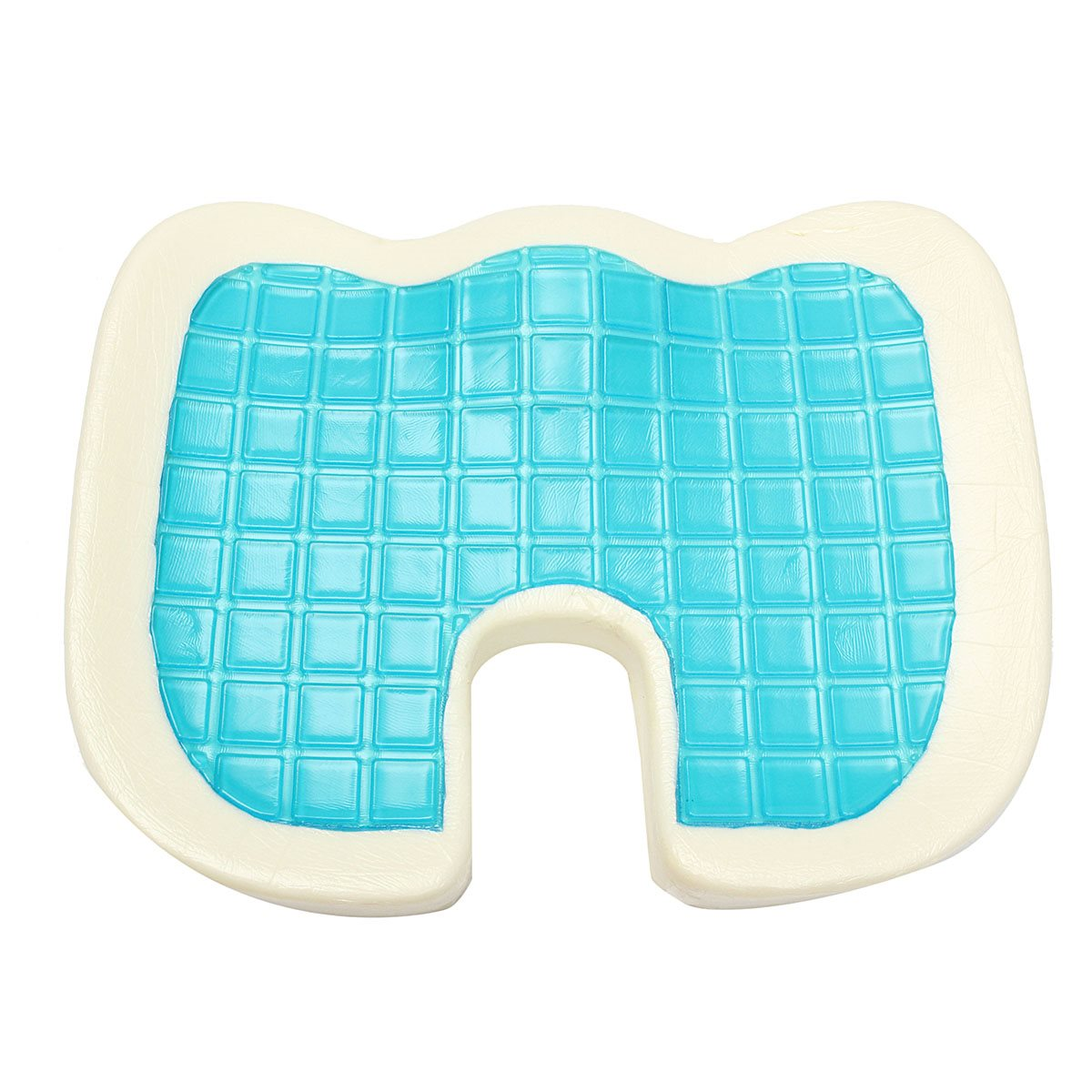46x35x7 5cm Memory Foam Blue White Cooling Cushion Comfort Gel Seat Chair  Pillow BeautifulCompare Prices on Blue Chair Pads  Online Shopping Buy Low Price  . Gel Chair Pads And Cushions. Home Design Ideas