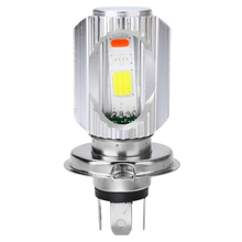 For Honda 1pc H4 12V 3 COB LED Motorcycle Front Light Lamp Headlight Hi/Lo Beam Bulb Bule/Red/White 6500K Wireless Treyues