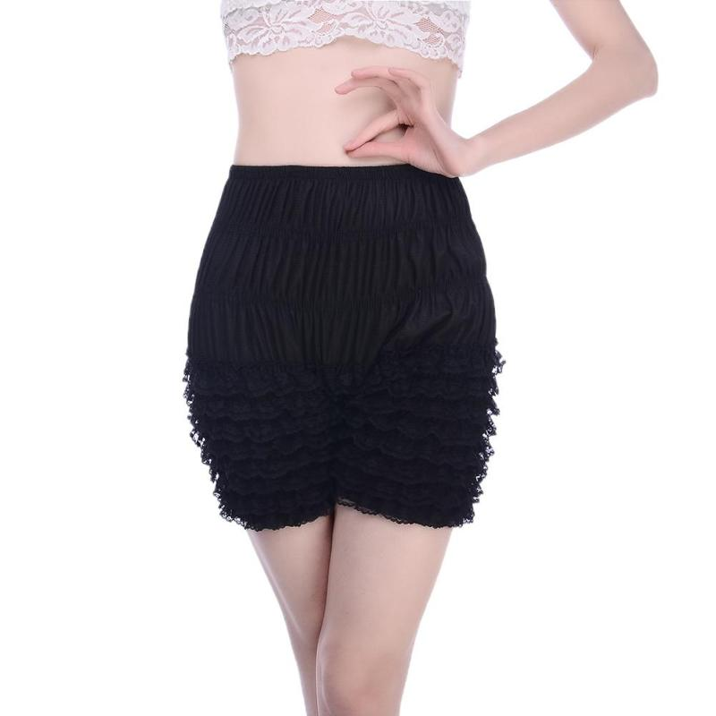 Sexy Underwear Women Lace Ruffle Multilayer Dance Bloomers Elasticity High Waist Panties Safety Breathable Casual Short Pants