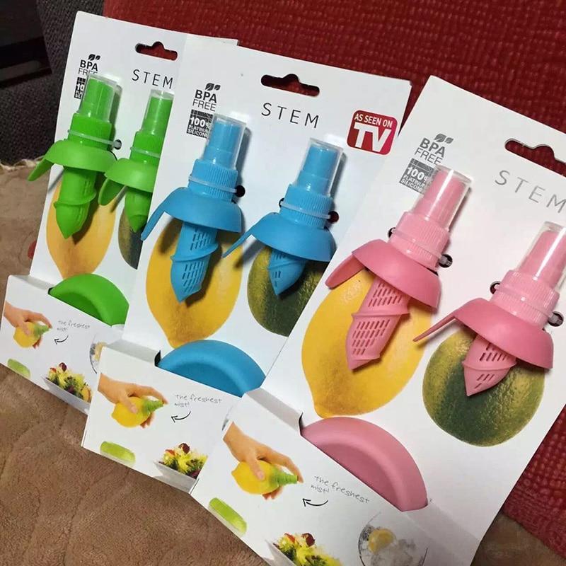 2Pcs/set Home Kitchen Gadgets Lemon Orange Sprayer Fruit Juice Citrus Spray Cooking...