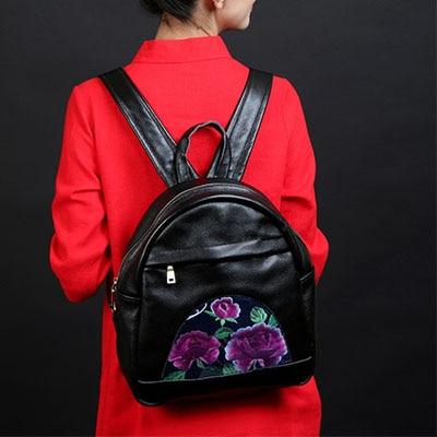 XIYUAN BRAND Genuine Leather mini Back Pack Woman Black Bag Luxury lady Backpack Purse Ladies Travel Bag with Mochila Feminism twenty four women backpack real genuine leather back pack casual korean style lady travelling bag zipper luxury brand mochila