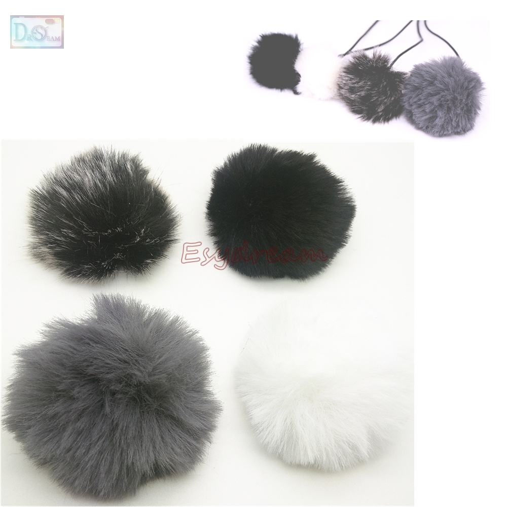 1cm Outdoor Furry Cover Windscreen Windshield For BOYA BY-M8C BY-M80D BY-M40C BY-M40D BY-WM5 BY-M1 Microphone