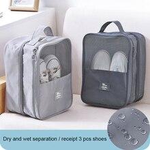 Shoes storage bag travel wash shoe bag New fashion Oxford travel Portable Tote waterproof dustproof Shoes storage shoe bag 66695