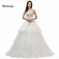 Real Model Wedding Dresses Sexy Custom Made Vestido De Noiva Back Bow Beaded Crystal Wedding Dresses