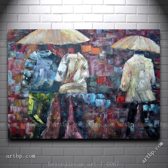 Walking In The Rain Oil Painting Impressionism Portrait Couple Canvas Ideas Realistic Abstract Free