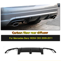 Углеродного волокна/FRP сзади диффузор спойлер бампера для Mercedes Benz C Class W204 C63 AMG 2009 2011 автомобиль Стайлинг