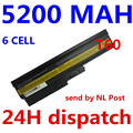 5200 мАч Аккумулятор для IBM Lenovo ThinkPad R60 R60e T60 T60p T61p R500 T500 W500 SL400 SL500 SL300 SL510 batteria