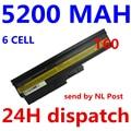 5200mAh Battery for IBM Lenovo ThinkPad R60 R60e T60 T60p T61p R500 T500 W500 SL400 SL500 SL300 SL510 batteria