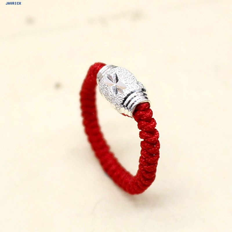 NTTHNCF Handmade Kabbalah Red String Lucky Bead Protection Braided Rings Fashion Jewelry