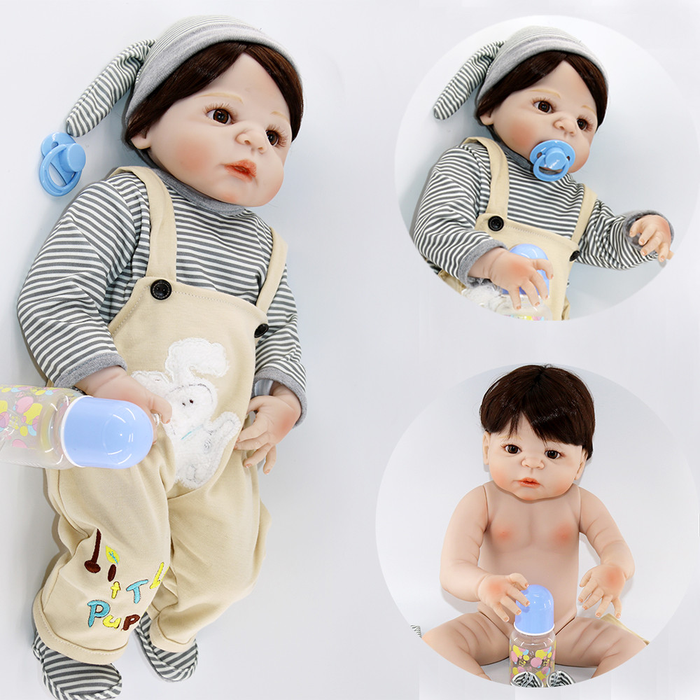 Dolls Strict Bebes Reborn Boy Dolls 2357cm Complete Silicone Reborn Baby Doll Toys For Child Gift Menino Boneca Reborn Npk
