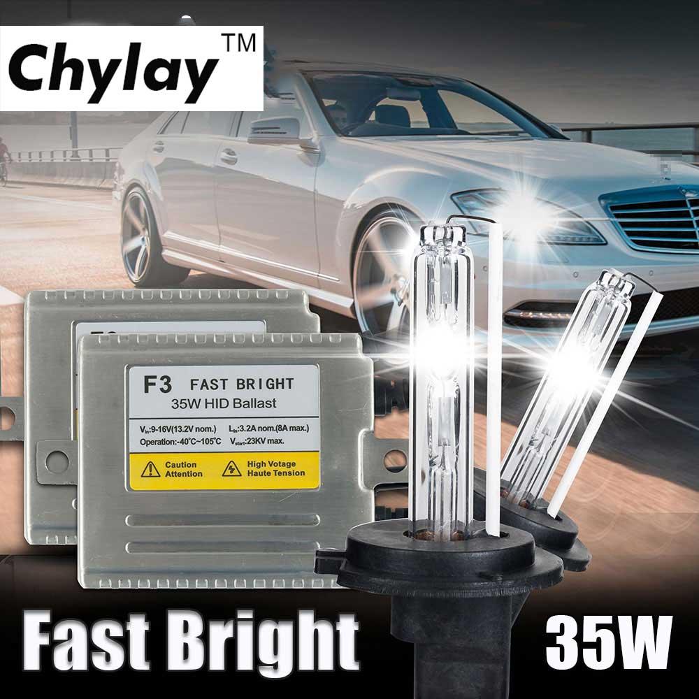 1 set AC 35 W HID kit xénon h7 ampoule xénon H4 H1 H3 H11 9005 9006 D2S lampe faisceau unique F3 12 V hid kit de conversion pour phare de voiture