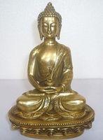 Тибетский Буддизм статуя Будды Шакьямуни изделия ручной работы из металла