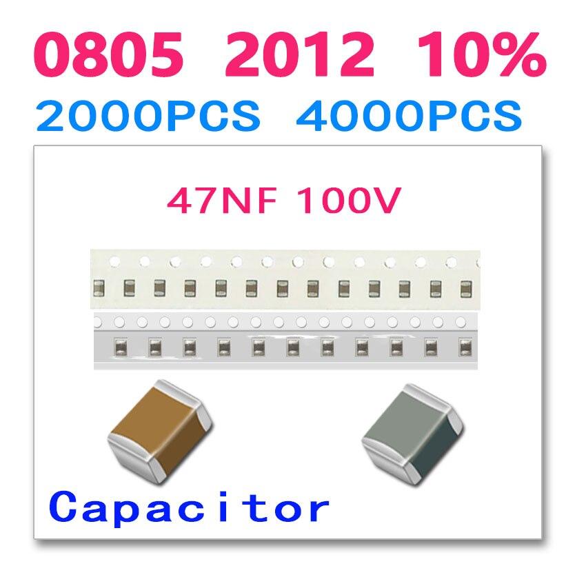 47NF 0805 2012 2000PCS 4000PCS 100V 473 High quality SMD ceramic chip Paper packaging and plastic packaging cl21a106koqnnne 0805 106k x5r 16v smd 10uf 2000pcs