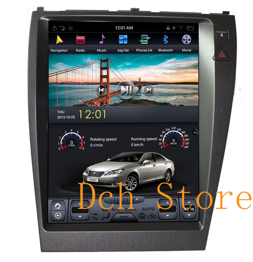 12.1 inch Vertical tesla style Android auto Car DVD GPS Navigation for lexus  ES ES240 ES350