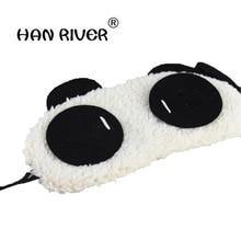 HANRIVER жемчуг бархат мягкий затенение сна патч прекрасная панда глаз застенчивая маска глаза панды горячая распродажа