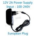 Горячие 12V2A хорошее качество адаптер питания Европейский разъем для камеры ВИДЕОНАБЛЮДЕНИЯ, IP камеры и DVR, AC100-240V, чтобы DC12V2A конвертер