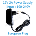 Adaptador de alimentação 12V2A boa qualidade quente Europeia plug para câmera de CFTV IP câmera e DVR, AC100-240V para DC12V2A conversor