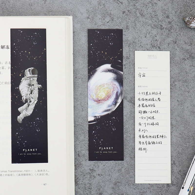 30pcs Parallel universe bookmarks for book mark Galaxy travel planet memo note kids gift Stationery School supplies A6395