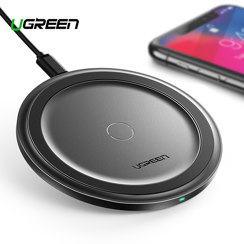 Ugreen 10W Qi Wireless Charger Fast Wireless Charging Pad for Samsung 9 Charger
