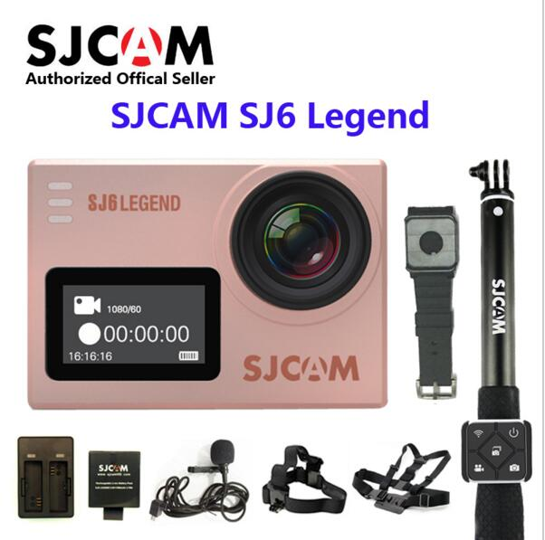 Original SJCAM SJ6 LEGEND WiFi 4K 24fps Ultra HD Notavek 96660 Waterproof Action Camera 2 Touch Screen Remote Sports DV cam in stock sjcam legend sj6 wifi notavek 96660 4k 24fps ultra hd waterproof camera action cam 2 0 touch screen remote sport dv