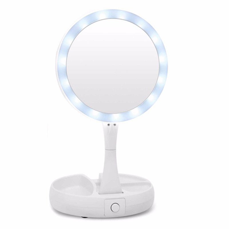 Mirror The Lighted Double Sided Vanity Makeup Mirror Cosmetic WomenMirror The Lighted Double Sided Vanity Makeup Mirror Cosmetic Women