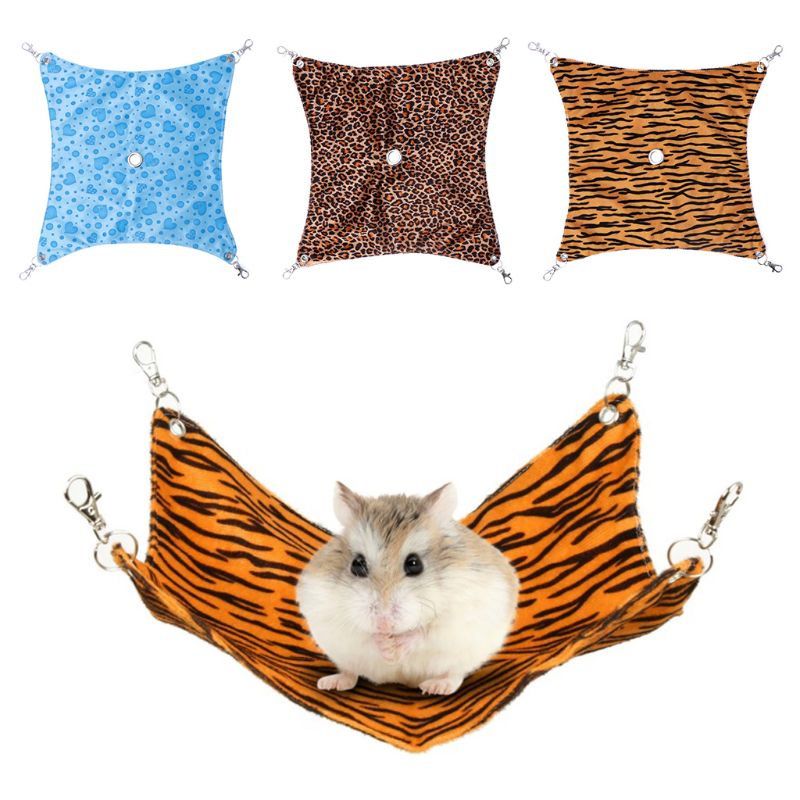 Pet Hammock Soft Comfortable Fleece Small Animals Squirrel Hamster Sleeping Bed Swing Toys Play  Hole Hanging Cage DecorationPet Hammock Soft Comfortable Fleece Small Animals Squirrel Hamster Sleeping Bed Swing Toys Play  Hole Hanging Cage Decoration