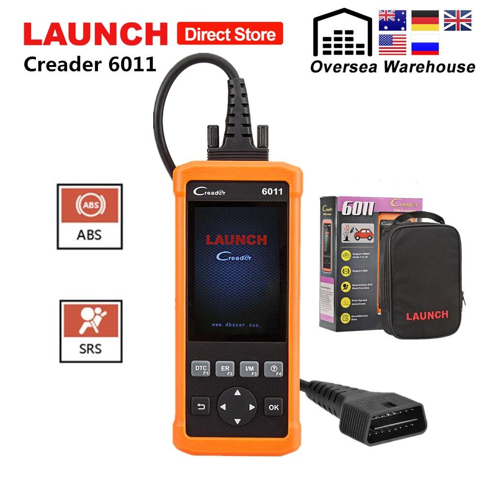 Lançamento CReader 6011 CR6011 OBD2 Código Ler Scanner ABS SRS Ferramenta de Diagnóstico Auto Carro OBD 2 Autoscanner OBDII Automotive Scan ferramentas