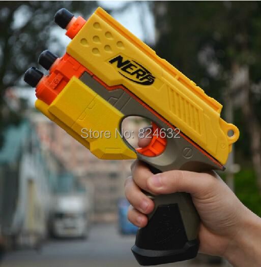 Envío gratis pistola nerf pistola rifle de aire suave pistola nerf pistolas de juguete con balas nerf suave regalo de los niños