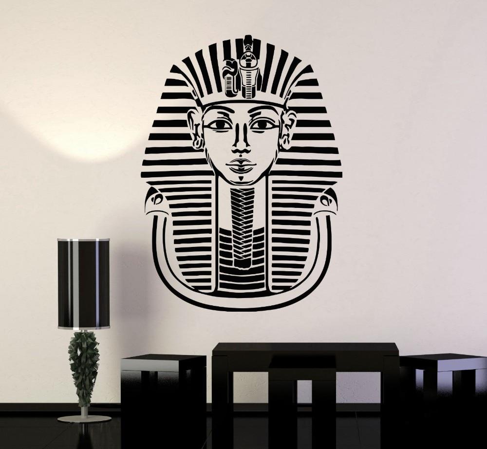 6c852a37d8bdb الفرعون المصري القديم النمط الغربي نمط الديكور غرف ديكور المنزل الفن جدارية  الفينيل الجدار ملصق الشارات W-1078