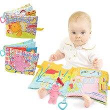 Cartoon Animal Cloth Book Bear Baby Happy Day Bear Baby Good Night Cloth Book Baby Early Education Tear Not Bad Cloth Book Toy недорого