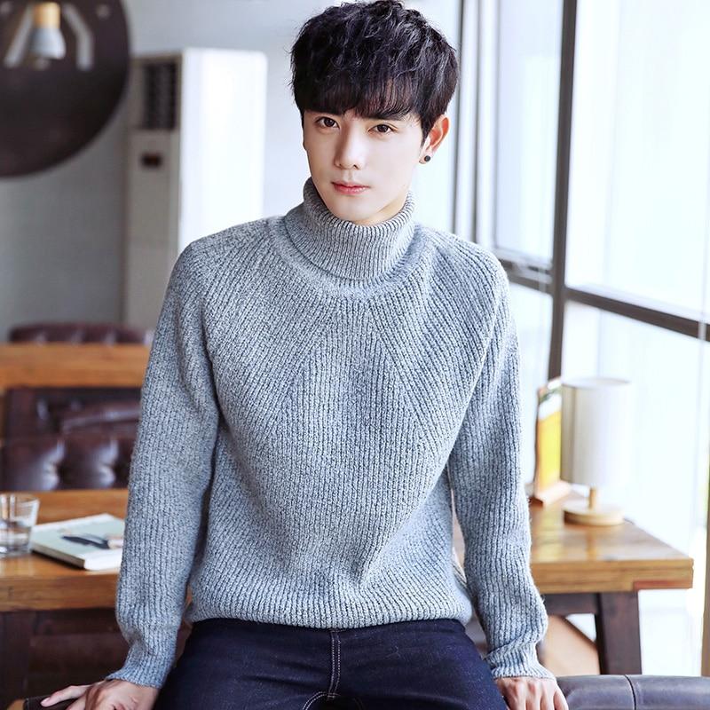 2018 Autumn Winter Men\u0027s Turtleneck Sweater Korean Style
