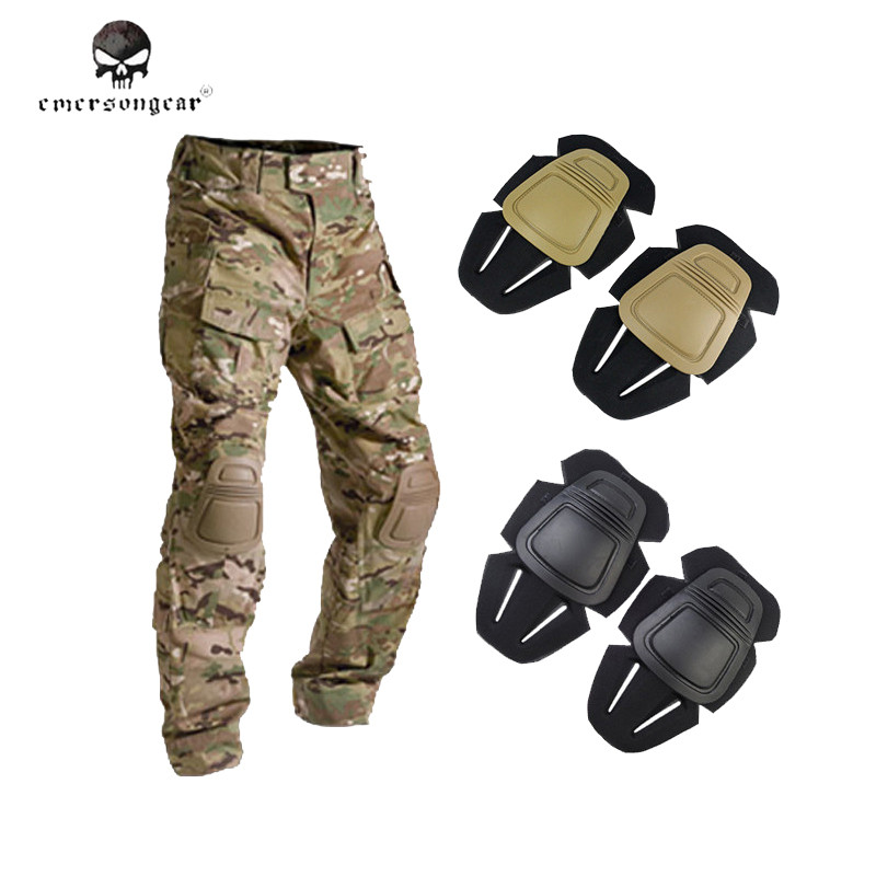 Emerson G3 Protector Knee Pads Paintball Airsoft Tactical Combat Knee Pads for Outdoor Sport G3 Pants Trousers Kness Protector emerson kryptek typhon camo g3 pants with knee pads combat tactical airsoft pants em7036