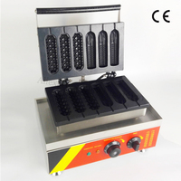 Commercial French Muffin Hot Dogs + Corn Hotdog Waffle Baker Maker for Bakery Coffee Shop Snacks Street Lolly Waffle Machine
