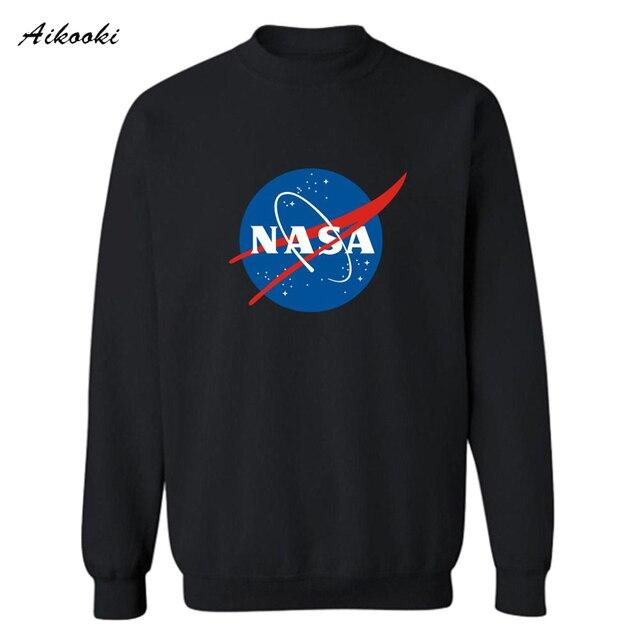 2017 Trendy NASA 4XL Sweatshirt Men Luxury in The Martian Matt Damon Mens Hoodies and Sweatshirts Streetswear for Couples 4XL