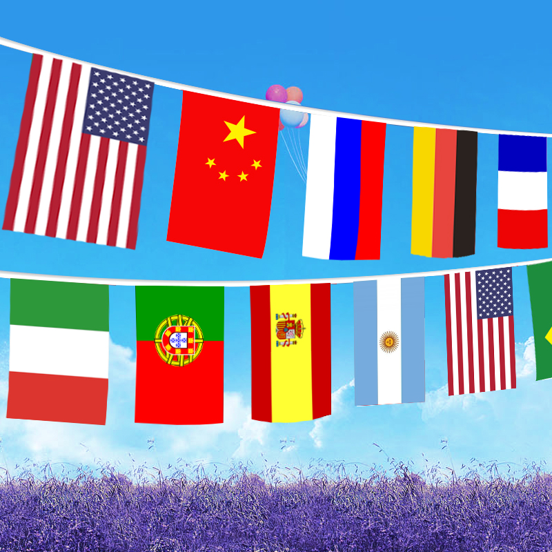 24 Different Countries String Flags International Banner And Flags Home Festival Event Bar