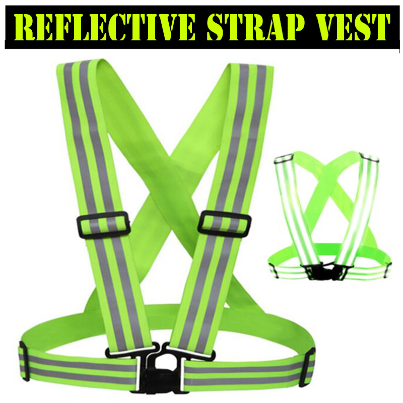 SPARDWEAR Elastic Reflective Strap Vest Waistcoat Belt for Outdoor Sports Running Jogging Security Reflective Strips Vest high quality safe reflective vest belt for women girls night running jogging biking