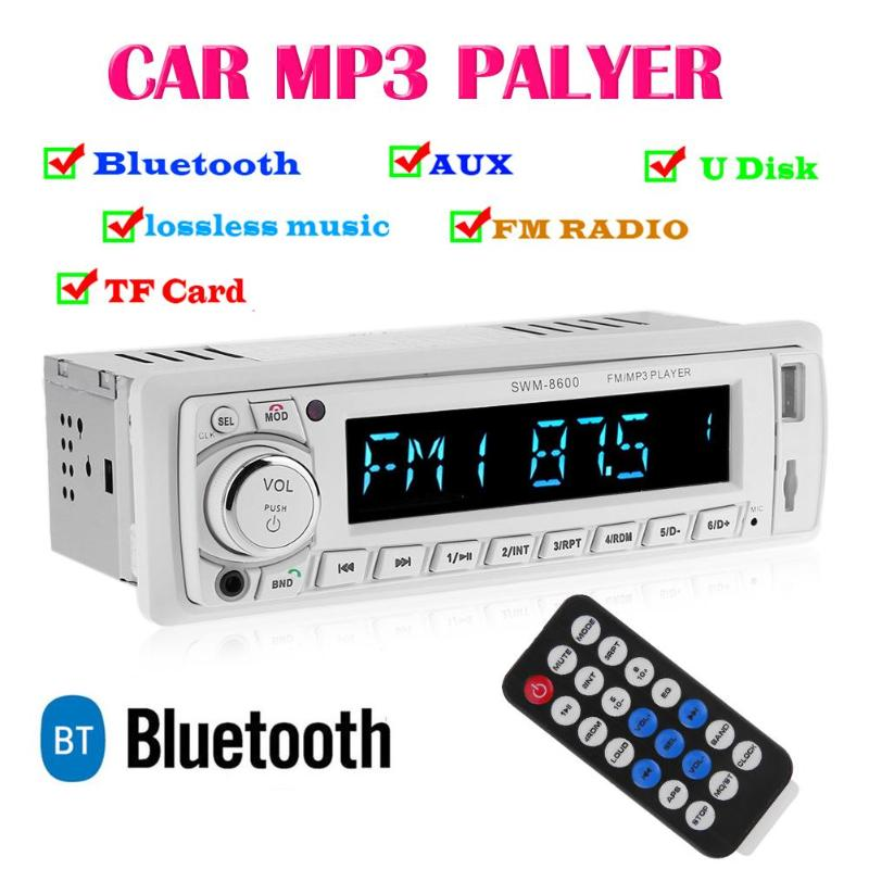 Autoradio 1 Din In-dash FM Bluetooth USB MP3 lecteur multimédia télécommande 12 V 4 canaux unité de tête récepteur télécommande