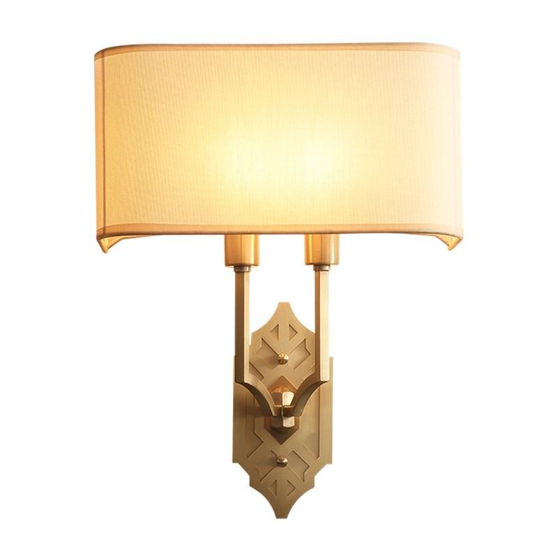 Modern Full Copper Wall Light Brass Wall Lamp Country